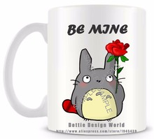 My Neighbor Totoro Be Mine mug cup 11oz Funny travel Ceramic white coffee tea mugs personalized Valentines Birthday Easter gifts