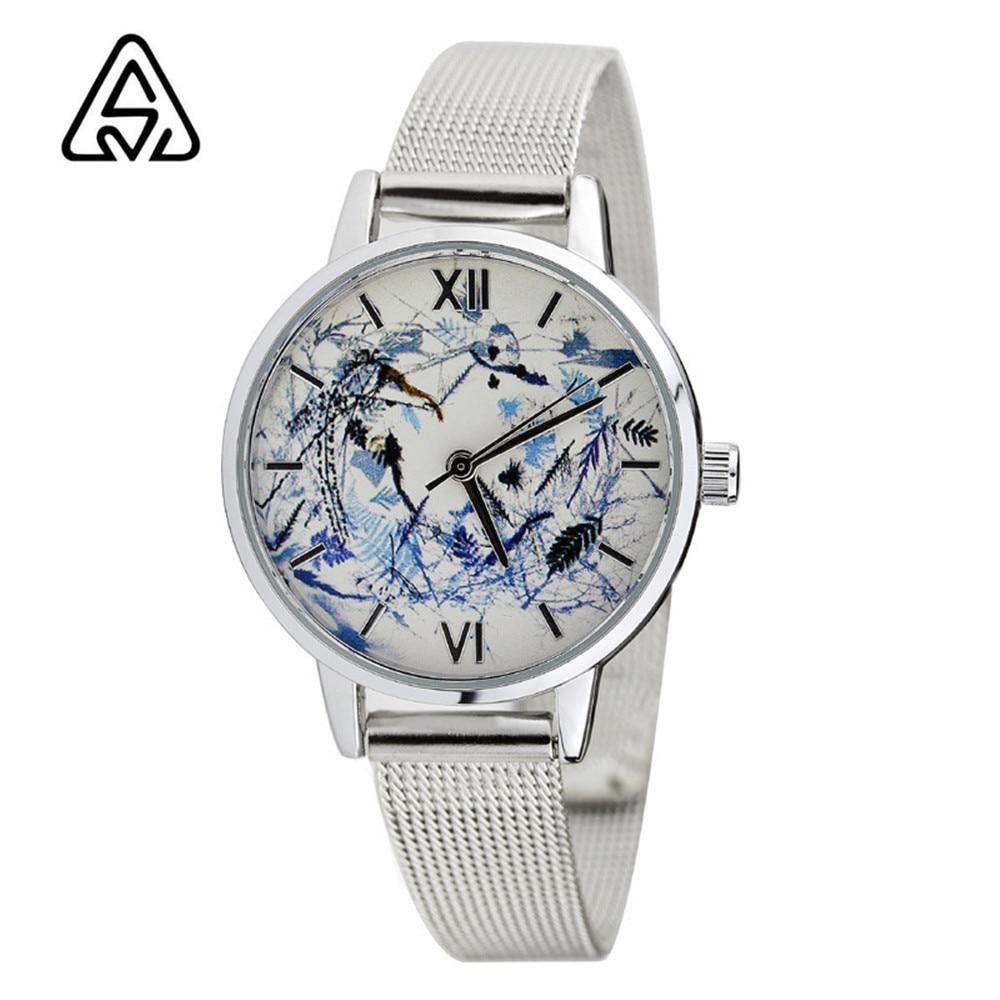 2017 High Quality Bracelet Belt Quartz Wristwatches Women Lady tainless Steel strap Women Watches Best Gifts <br><br>Aliexpress