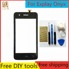 Free DIY Tools+100% New Touch Screen For Explay Onyx Glass Capacitive sensor For Explay onyx Touch Screen panel Black