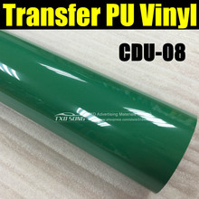 Premium Garment transfer pu film with free shipping 50X100CM/LOT CDU-08 GREEN COLOR