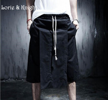 Japanese Harajuku Street Fashion Skirt Pants Vintage Punk Gothic Personality Men's Trousers