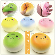 10cm Jumbo Squishy Charms Soft Kawaii Onsen Smiley Face Bread Cream Scented Cellphone Bag Straps(China)