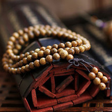 Hot! Fashion Vintage Wenge Natural Wood 6MM Beads Stretch Wooden Bracelet Men handmade 108 Buddha Bracelets & Bangle Gift Charm