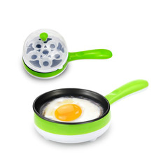 Fashion Multifunction Non-stick Pans Creative Egg Boiler Omelette Pans No Lampblack Mini Breakfast Multifunction Portable Pans(China)