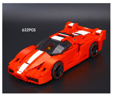 Classic technics racers 1:17 scale Italy famous brand horse Super sports car FXX  building block model lepins bricks 8156 toys
