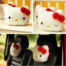 2PCS One pair Lovely Pink Hello Kitty Car Headrest Car Accessories hello kitty car-styling Headrest car interior Free Shipping(China)
