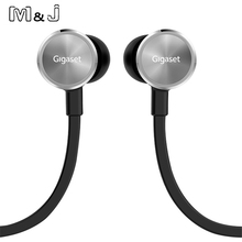 Gigaset Pro Stereo High Quality Sport Earphone In ear Earbuds Noise Cancelling Beat Earphone With Mic For Iphone Sumsang PC MP3