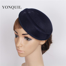 15 colors 5psc/lot 16*19CM women Solid oval navy blue Airline stewardess cap Sinamay Base Fascinators Hats DIY hair accessories