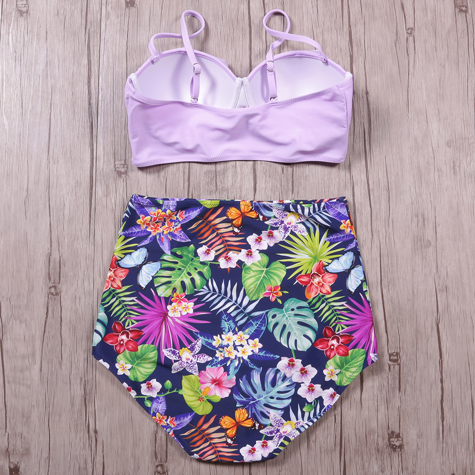 TQSKK 19 New Bikinis Women Swimsuit High Waist Bathing Suit Plus Size Swimwear Push Up Bikini Set Vintage Retro Beach Wear XXL 10