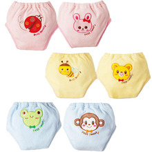 Cute Baby Training Pants Nappies Infant Diapers Toddler Panties for Boy Girl Pee Learning Babe Shorts Underwears Briefs(China)