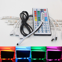 USB Powered RGB Colour Change 5050 LED Strip Computer Bias Lighting TV USB Backlight Light Kit Flat Screen TV LCD Desktop PC