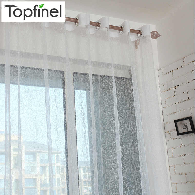 Top Finel Hot Bird Nest Shade Tulle for Window Curtain Panel Finished Modern Sheer Curtains for Kitchen Living Room the Bedroom