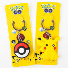 High Quality Duplex Pokeballs Pikachu Keychain Toys Action & Toy Figures Cosplay Go Toys Best Gifts For Kids(China)