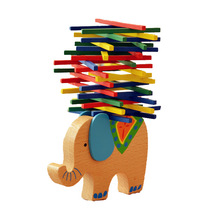 BOHS Wooden Colourful Balance Sticks Ride on Elephant Motor Skill Training Toy Stacking Game(China)