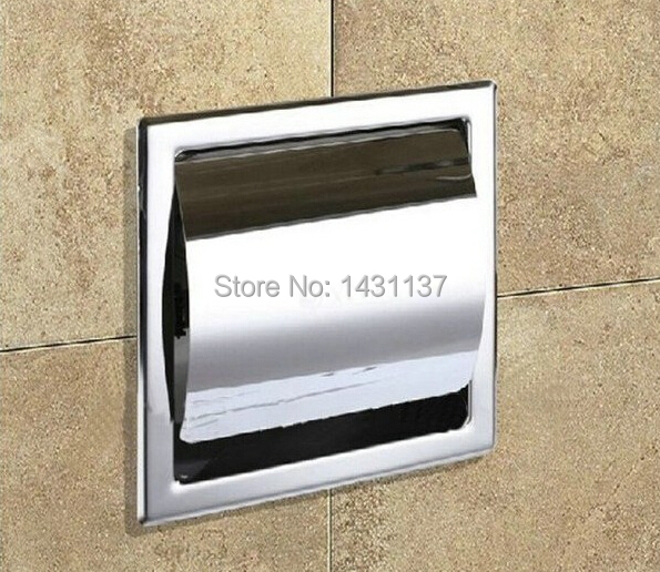 wholesale and retail high quality 304 Stainless steel  chrome plating single in-wall paper holder<br><br>Aliexpress