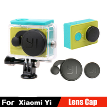 Xiaomi Yi Accessories Lens Cap Cover + Standard Waterproof Case Housing Cover With Logo For Xiaomi Yi Action Sports Camera
