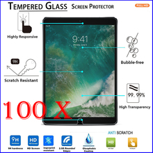 100pcs 2.5D Arc Edge Tempered Glass Film 9H Explosion Proof LCD Saver Toughened Screen Protector for iPad Mini 2 3 4 Air Pro 9.7