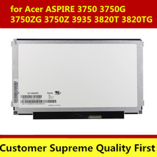 LED Display LAPTOP LCD SCREEN for Acer ASPIRE 3750 3750G 3750ZG 3750Z 3935 3820T 3820TG TIMELINEX SERIES 1366X768 40 pin)(China)