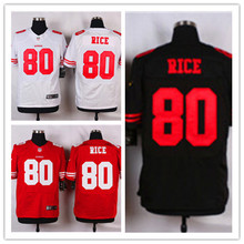 Mens 80 Jerry Rice Jersey 2017 Rush Salute to Service High Quality Football Jerseys(China)