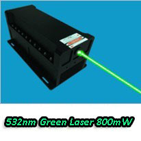 800mW Green Laser System+ Laser Power supply/driver(China)