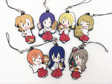 7pcs/Lot Japanese anime figure Love live witch ver Silicone mobile phone charms Action Figure Anime cell phone strap charm(China)