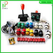 DIY Arcade JAMMA MAME KIT for USB to PC PS3 2 IN 1 interface USB Encoder to Spain style joystick and HAPP buttons(China)