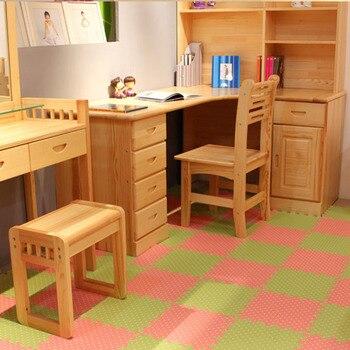 Meotoku 10 Unids/lote Bastante Enclavamiento EVA Foam Puzzle Juego mat, Cubierta de colores Dot Película alfombra Alfombra, Cada Uno: 30x30 cm de Espesor 1 cm