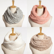 Women's winter scarf Blend Circle Collar Scarf Shawl Collar Solid Wrap Stole Scarve Man-made fiber Foulard femme hijab