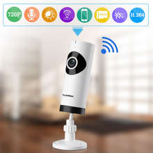 FLOUREON 720P HD Wireless IP Camera WIFI Surveillance CCTV Security Camera Two-way audio Baby Monitor Fish Eye IP camera(China)