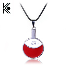 Anime Naruto necklace 2016 Sasuke Uchiha family marks red round coin pendant necklace choker jewelry Naruto jewelry xl0163