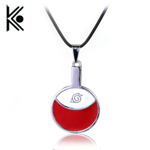 Anime Naruto necklace 2016 Sasuke Uchiha family marks red round coin pendant necklace choker jewelry Naruto jewelry xl0163(China)