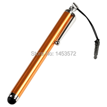 Yellow Resistance Touch Screen Stylus Pen with Anti Dust Cap Plug For Samsung Galaxy Tab 2 10.1 P5100 P5110(China)
