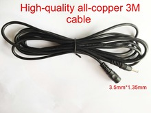 100pcs High-quality all-copper DC 5V Extension Power Cable Cord 3M 3.5mm*1.35mm For IP Camera EasyN Foscam Vstarcam