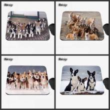 Custom Cute Corgi Dog Anime Animal Mouse Pad Rubber Anti-skid for Laptop PC Player Speed Control Decorative Table Mat