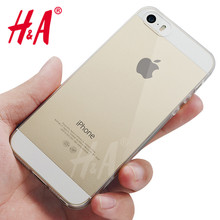 H&A Luxury Ultra Thin Soft transparent TPU Case For iPhone 5 5S SE clear silicone Case Cover For iPhone 5S SE 5 Phone Bag Case