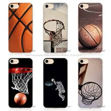 Hot Sale Basketball dark Hard Transparent Phone Case Cover Coque for Apple iPhone 4 4s 5 5s SE 5C 6 6s 7 Plus