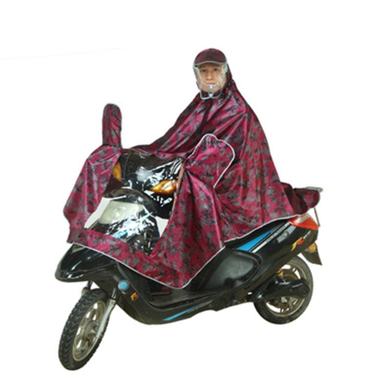 Motorcycle Raincoat Electric Cars Transparent Double Brim Single Rain Poncho Men Raincoat Women Outdoor Waterproof Rain Coat