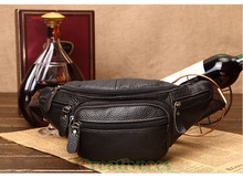 Men's Genuine Leather  Vintage Shoulder Messenger Cross body Hip Bum Belt Fanny Pack Waist Pouch Bag