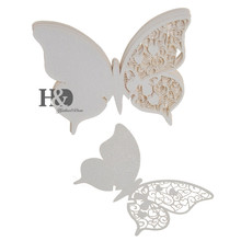 12PCS Laser Cut Butterfly Wedding Mark Wine Glass Table Place Cards for Party Wedding Invitation Favors and Gifts Decorations