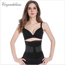 Luxury Women Breathable Body Abdomen Shaper Girdle Slimming wraps Weight Control Sashes Shapewear Waist Trainers MR057(China)
