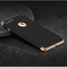 Buy iphone 8 plus Case Luxury Metal Plating Shockproof Matte Frosted Plastic Hard Back Cover Coque iphone 8 plus Case 3 1 for $4.98 in AliExpress store