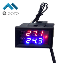 DC 12V Microcomputer Electronic Thermostat Temperature Controller Switch Adjustable Digital LED Display Intelligent(China)