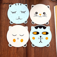 1 Piece Lytwtw's Coaster Cat Kitchen Placemat Table Mat Decorations for Home Cup Drink Mug Tea Coffee Pad Drink(China)