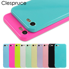 Clespruce Fashion Candy Jelly Soft TPU Silicone Shockproof Case for iPhone X 7 8 Plus Cell Phone Case For iPhone 6 6s 7 Plus SE(China)