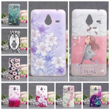 Soft Silicone Phone Cover Case For Microsoft Nokia Lumia 640XL 640 XL Luxury 3D Painted Cute Funda for Nokia Lumia 640xl Bags