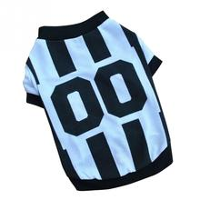 World Cup Soccer Jersey For Dog Cool Spring Summer Breathable Dogs Vests Puppy Outdoor Sportswear Football Clothes For Pet(China)