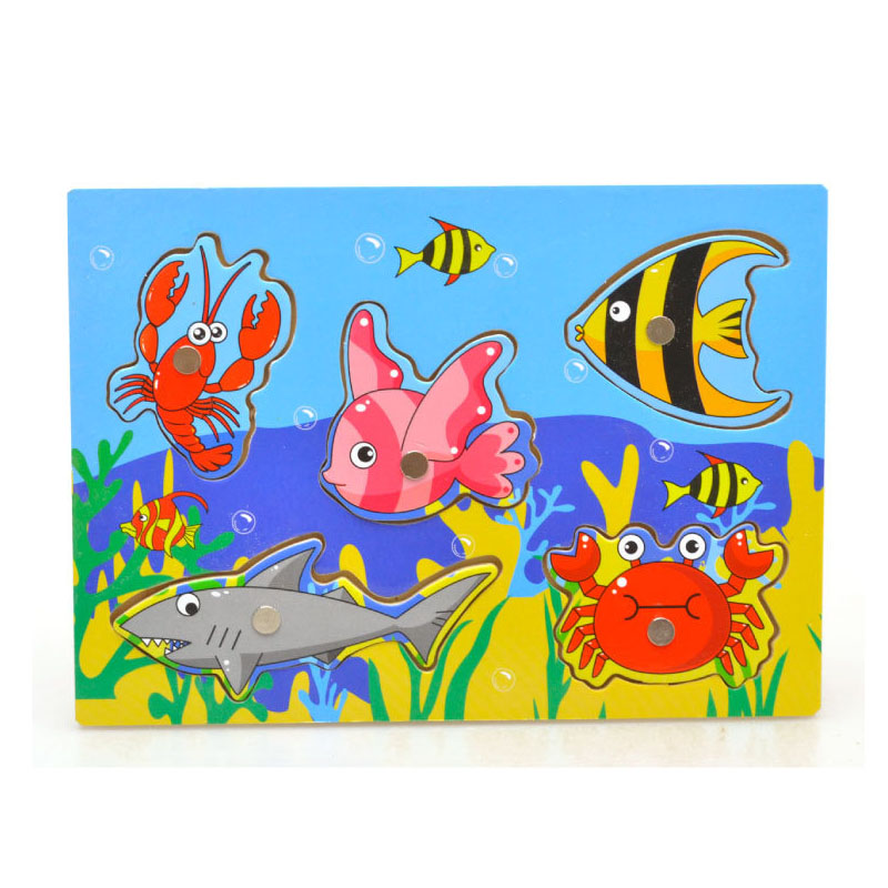 Kid Wooden Magnetic Fishing Game Puzzle 2