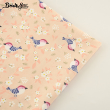 Booksew New Arrival Cotton Twill Fabric Beige Bird Style Home Textile Quilting Fabric Tissue For Bedding Clothing Baby Quilting(China)