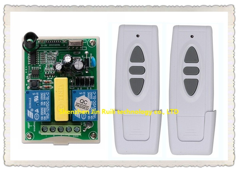 AC 220V Wireless Remote Control Switch 1 * receiver + 2* transmitter Tubular motor forward and reverse<br><br>Aliexpress