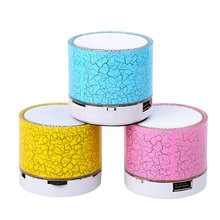 Portable LED Light Bluetooth Music Speaker Mini Wireless Colorful Speakers Handsfree Stereo Loudspeakers Subwoofer support TF